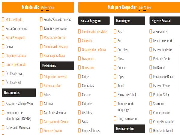checklist - Como fazer seu checklist de viagem - Baixe arquivo gratuito