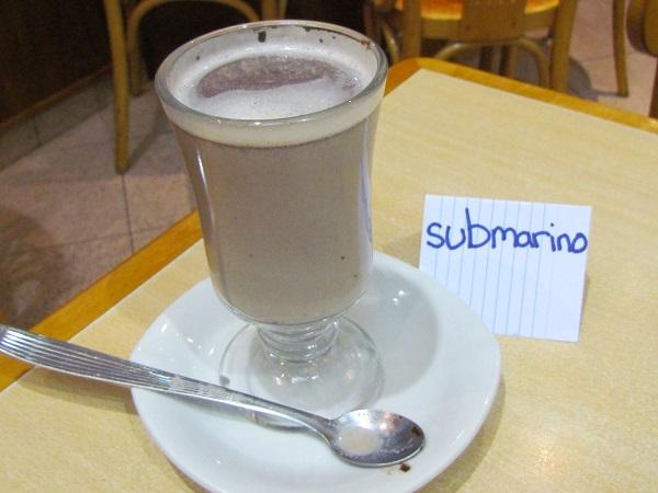 submarino - 10 comidas e bebidas que você tem que provar em Buenos Aires